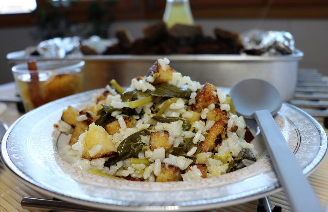 arroz de grelos e broa